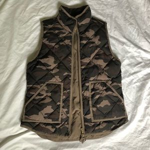 J.Crew quilted vest in camp print